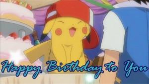 Pokémon Pikachu wishing me Happy Birthday! :D