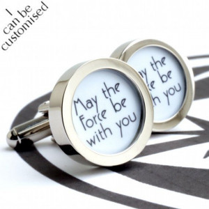 May the force be with you Cufflinks Star Wars Jedi by urbaneye, £22 ...