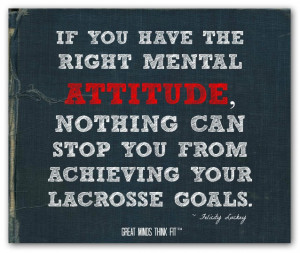 ... can stop you from achieving your lacrosse goals.