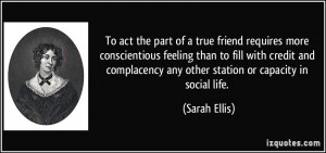 ... complacency any other station or capacity in social life. - Sarah