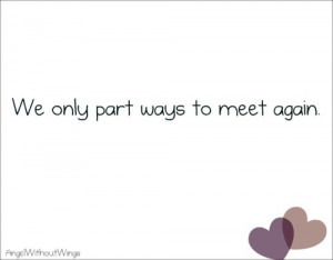 We Only Part Ways to Meet Again ~ Goodbye Quote