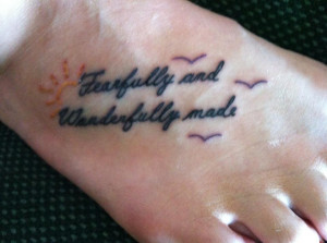 Christian Tattoos – Fearfully and Wonderfully Made