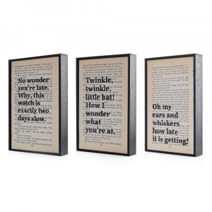 Alice in Wonderland Quotes Altered Book Art Typographic print on ...