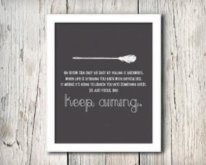 Inspirational Arrow Quote Wall Decor, An Arrow Can Only Be Shot By ...
