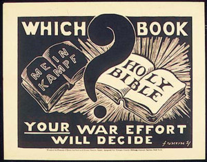 ... ? Mein Kampf is very pro-Christian, this cartoon is lying propaganda