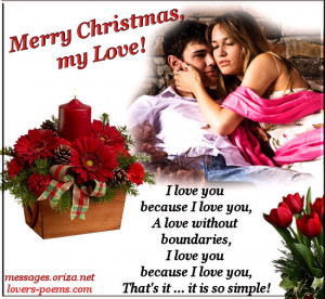 Romantic Love Christmas Message – 3