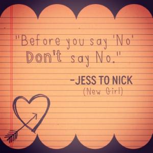 New Girl - Nick and Jess -