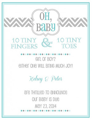 Pregnancy Announcement Wording