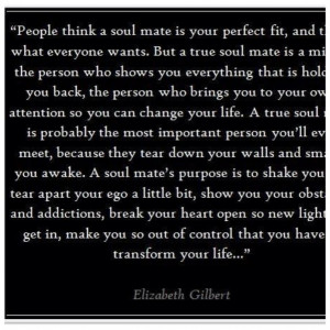 People Think A Soul Mate Is Your Perfect Fix Quote On Black Theme