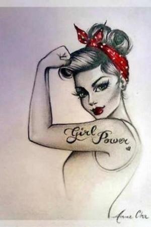 ... , Girls Power, A Tattoo, Pinup, Pin Up Tattoo, Girlpow, Pin Up Girls