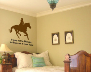Horse decal-Horse quote decal-Vinyl wall sticker-Horse wall sticker-30 ...