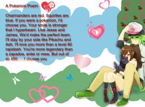 Cute Pokemon Love Couples A pokemon poem information