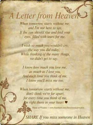 Memorial quotes, best, sayings, deep, heaven
