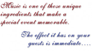 ... Event Memorable. The Effect It Has On Your Guests Is Immediate