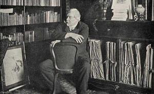 Edmond de Goncourt dans son cabinet de travail
