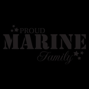Proud Marine Family Wall Quotes™ Decal