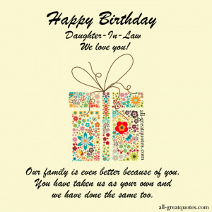 ... - All , Birthday Cards - Daughter-In-Law on May 24, 2014 by admin