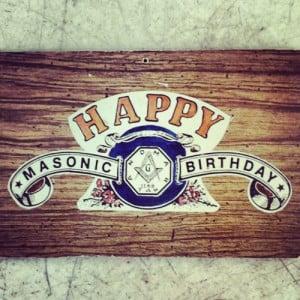 Masonic Birthday