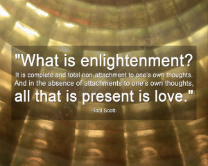 What is Enlightenment? * Inspirational Teal Scott Quote * 10x8 ...