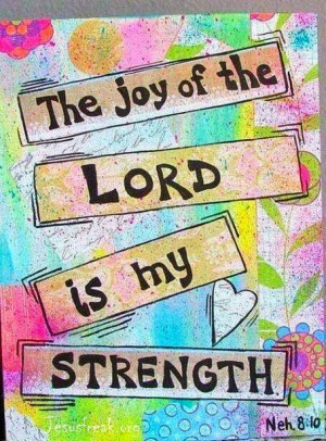 Bible Inspiration Quotes: The Joy of The Lord is My Strength
