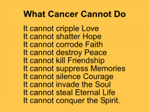 Surviving Cancer Poems