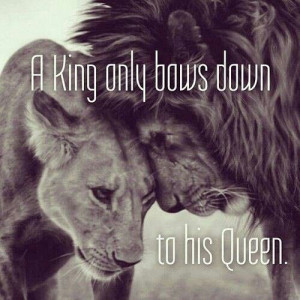 Lion king and queen quote from facebook