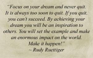 ... Quotes , Rudy Movie , Rudy Movie Quotes , Rudy Ruettiger Quotes