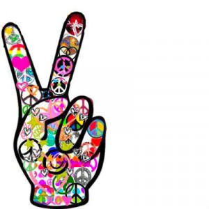 Still today we see the peace sign displayed on car bumpers, t-shirts ...