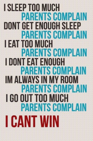 Funny Quotes About Teenagers And Parents A teenagers perspective