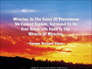 Miracles in the sense of phenomena we cannot explain