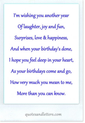 quotes for him from the i love you on her birthday birthday quotes for ...