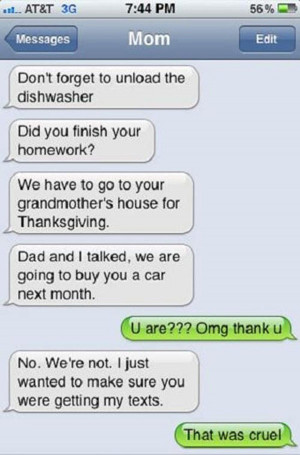 The 36 funniest text ever sent from parents to their kids. I couldn ...