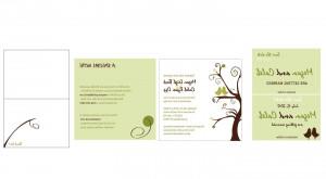 Printable Love Bird Wedding Invitation Set