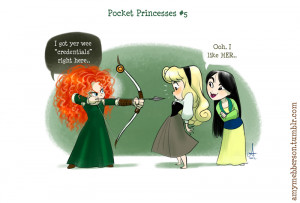 am LOVING these comics by Amy Mebberson . Titled Pocket Princesses ...