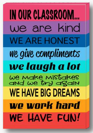 Classroom Rules Canvas(rainbow design)