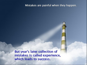 Inspirational Wallpaper on Success and Mistakes