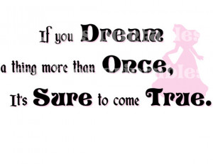 Sleeping Beauty DIY If you Dream Come True Quote Wedding Princess ...