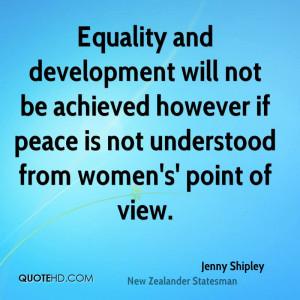 Jenny Shipley Peace Quotes