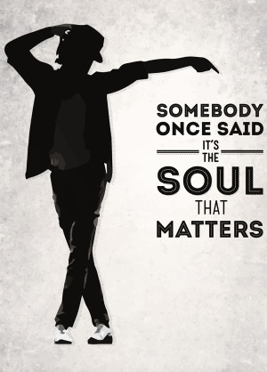 Michael Jackson Quote poster
