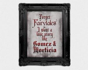 Love Like Gomez and Morticia - 8x10 Poster Print Home Decor