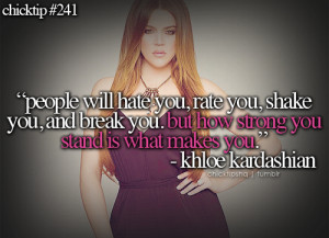 Quotes By Khloe Kardashian: