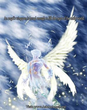 An angels wingspan is broad enough to lift the heart of the entire ...