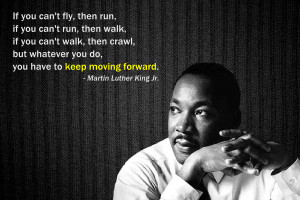 Perfect timing! Leave it to MLK to have just the right words. Fitting ...