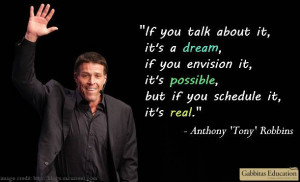 ... Anthony 'Tony' Robbins motivational quote. http://www.gabbitas.co.uk