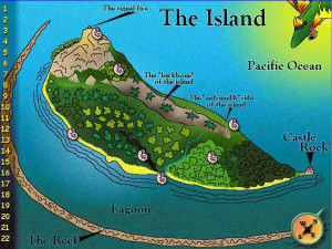 Image Map of the Island Lord of the Flies William Golding