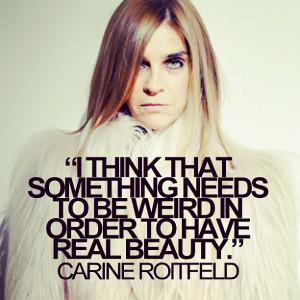 carine roitfeld quotes fashion