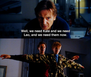 Liam Neeson and Thomas Sangster in Love Actually