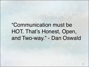 Communication Quotes Communication must be hot