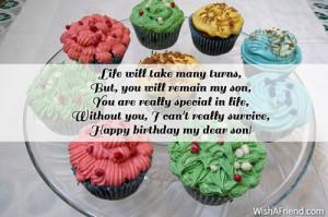Happy Birthday To My Son Quotes Happy birthday my dear son!