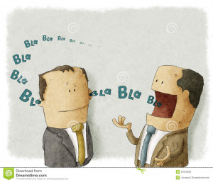 Illustration of Boss talking with employee.